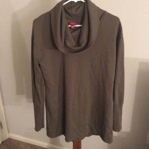 Cowl neck sweat shirt tunic